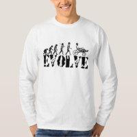 Recumbent Bicycle Evolution Fun Sports Art T-Shirt