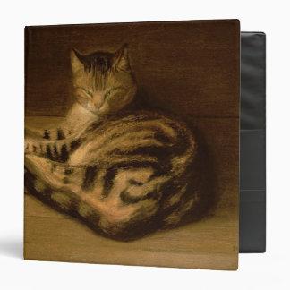 Recumbent Cat, 1898 3 Ring Binder