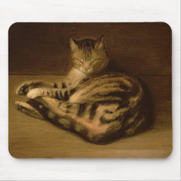 Recumbent Cat, 1898 Mouse Pad