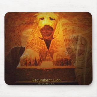 recumbent lion mouse pad