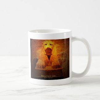 recumbent lion coffee mug
