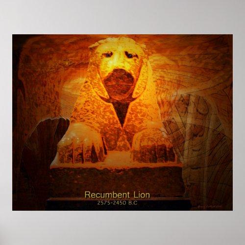 Recumbent Lion print