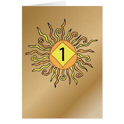 Recuperación 3526 aniversario Sun de 1 año Tarjeta De Felicitación