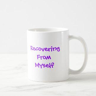 Recuperación de mí mismo taza de café