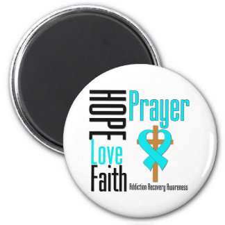 Recuperación del apego del rezo de la fe del amor  imán redondo 5 cm