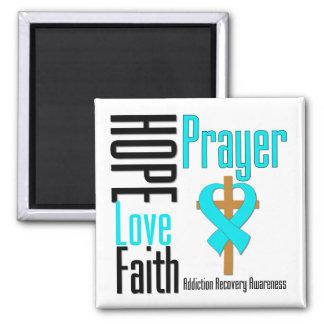 Recuperación del apego del rezo de la fe del amor  imán cuadrado