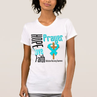 Recuperación del apego del rezo de la fe del amor t shirt