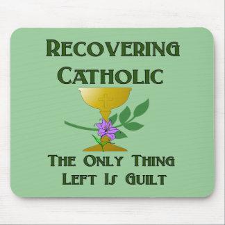 Recuperación del católico alfombrilla de raton