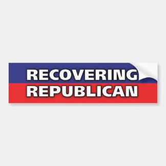 Recuperación del republicano pegatina de parachoque