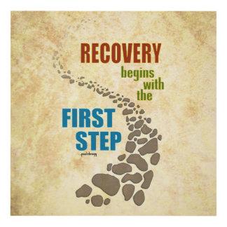 Recuperación, el primer paso (el paso 12, droga cuadro