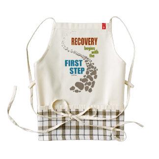 Recuperación, el primer paso (el paso 12, droga delantal zazzle HEART
