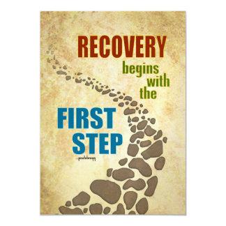"""Recuperación, el primer paso (el paso 12, droga invitación 5"""" x 7"""""""
