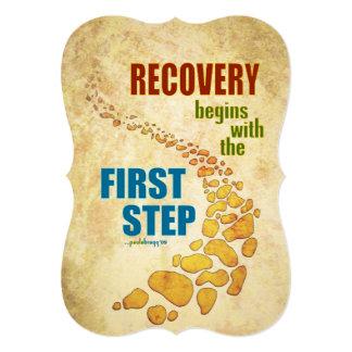 """Recuperación, el primer paso (paso 12, invitación 5"""" x 7"""""""