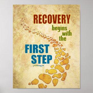 Recuperación, el primer paso (paso 12, póster
