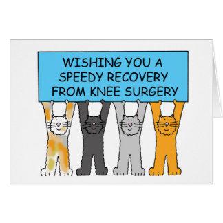 Recuperación rápida de la cirugía de la rodilla tarjeta de felicitación