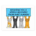 Recuperación rápida de la cirugía de la rodilla tarjetas postales