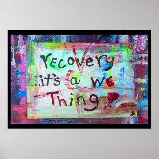 recuperación su nosotros cosa póster