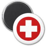 Recuperación suiza Roundell de la emergencia de la Imán Redondo 5 Cm