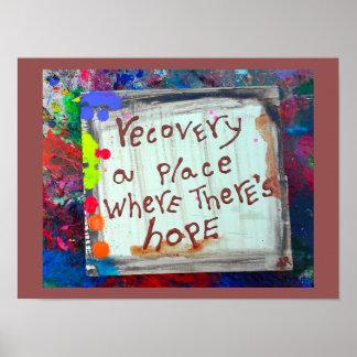 recuperación un lugar donde hay esperanza póster
