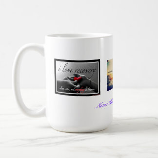 Recuperación y gratitud taza de café