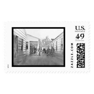 Recuperating Soldiers in Washington, DC 1865 Postage Stamp