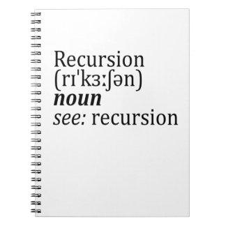 Recursion Spiral Note Book