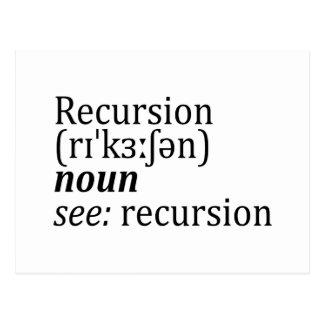 Recursion Postcard