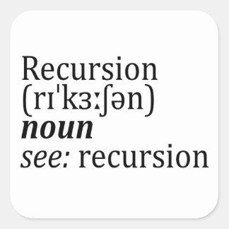 Recursion Square Sticker
