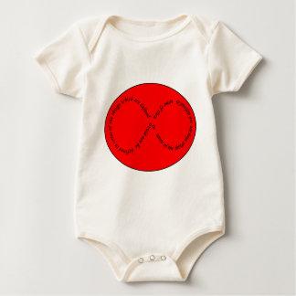 recursion through negation baby bodysuit