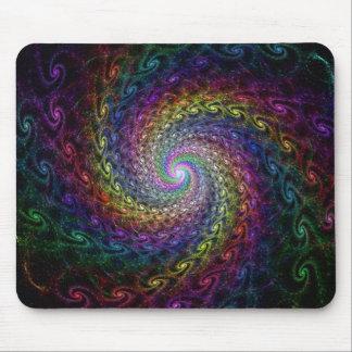 recursive rainbow spiral mouse pad