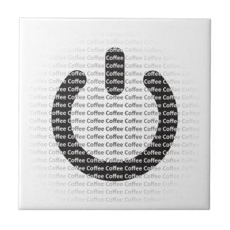 Recurso seguro para el café--¡Poder del café! Azulejo Cuadrado Pequeño