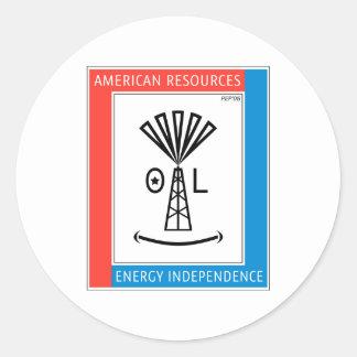 Recursos americanos etiquetas redondas