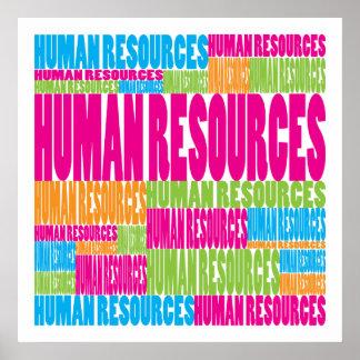 Recursos humanos coloridos poster