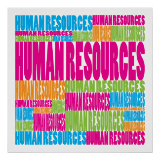 Recursos humanos coloridos póster