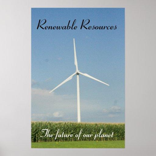 Recursos renovables posters