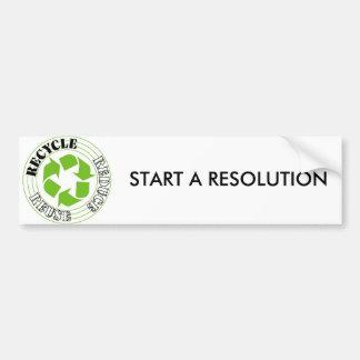Recycle_1_, COMIENZAN una RESOLUCIÓN Pegatina Para Auto