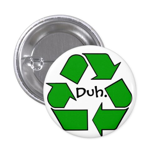recycle 1 inch round button