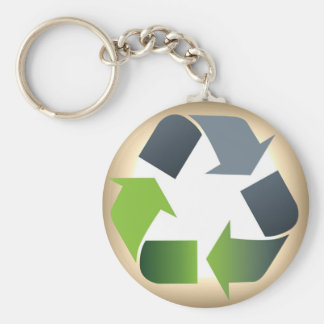 Recycle #1 keychain