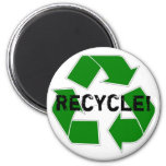 Recycle! 2 Inch Round Magnet