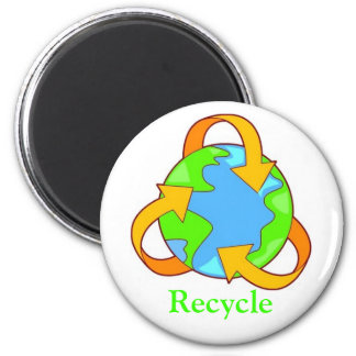 Recycle 2 Inch Round Magnet