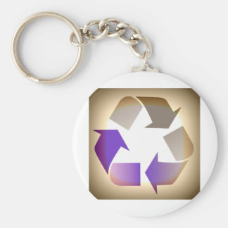 Recycle #2 keychain