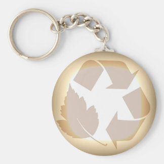 Recycle #3 keychain