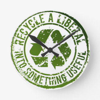 Recycle a LIberal Into Something Useful Wall Clock