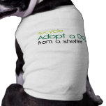 recycle adopt a dpg from a shelter dog t shirt