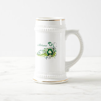 Recycle Alabama Beer Stein