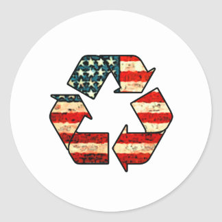 Recycle America Classic Round Sticker
