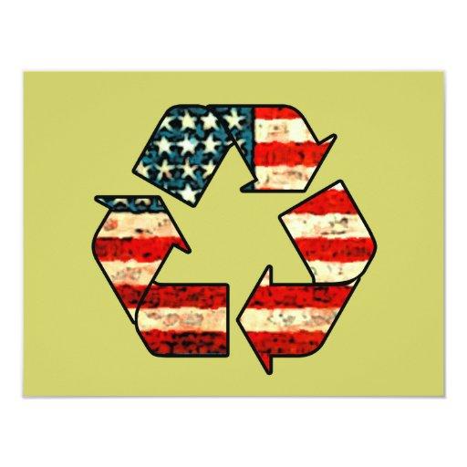 """Recycle America Invitations 4.25"""" X 5.5"""" Invitation Card"""