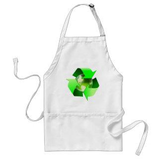 Recycle and save the world. adult apron