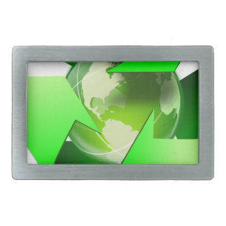 Recycle and save the world. belt buckle