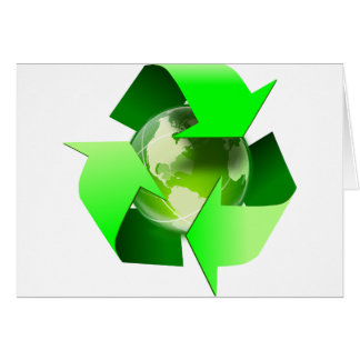 Recycle and save the world. card